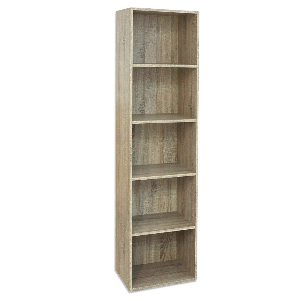 Divina Home Libreria 5 ripiani canadian scaffale in legno arredamento DH52198