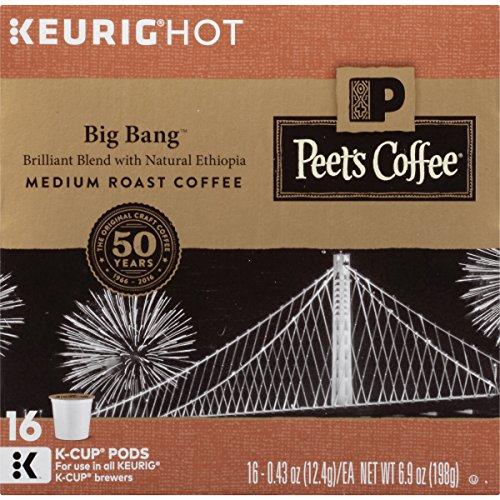 Peet's K-Cup Packs Big Bang Medium Roast Coffee, 16 Count