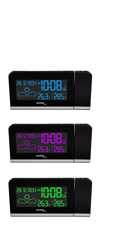 Technoline WT 539 Reloj de proyección con Radio Reloj, Pantalla de ...