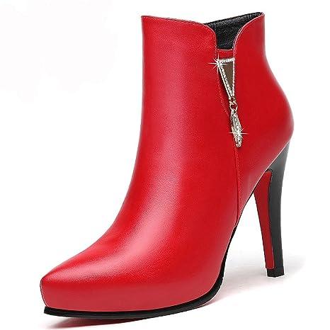Los tacones altos de las mujeres otoño e invierno Martin botas impermeables  botas de tendencia ( Color ... b21b2a80b768
