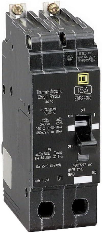 SCHNEIDER ELECTRIC 277-VOLT 40-AMP EJB14040 Miniature Circuit Breaker 277V 40A