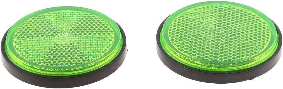 Baoblaze Plastic Round Reflective Warning Reflector Fits for Car Motorcycle Motor Bikes Bicycles ATV Dirt Bike Green