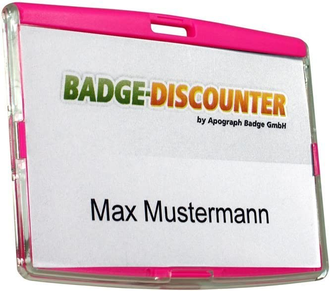 Plastica Orizzontale Porta badge identificativo con tracolla per collo 5 pacchi 10