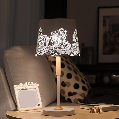 CJSHV-Lámpara de mesa Dormitorio Cálido Lámpara De ...