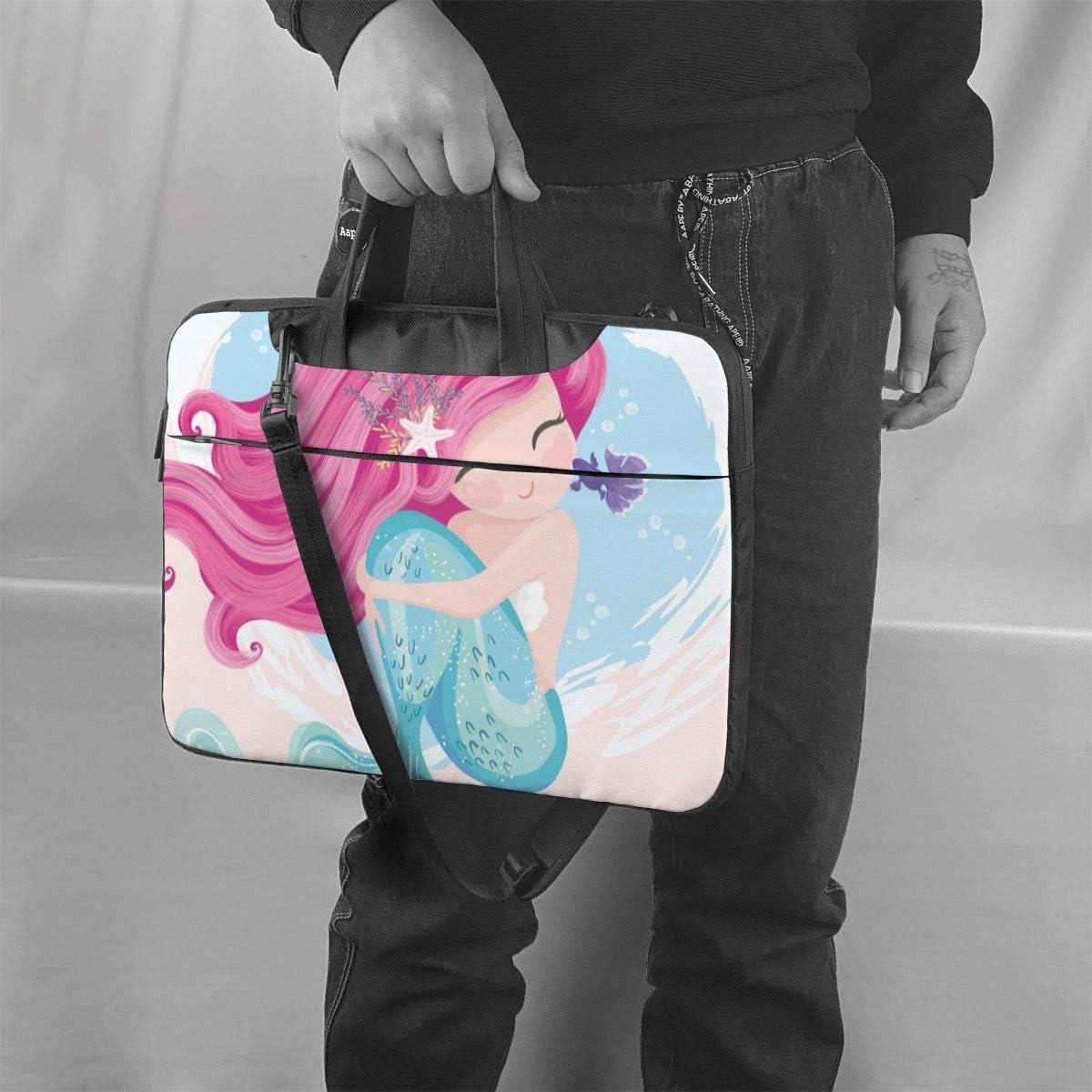 Mermaid Little Fish Laptop Bag Messenger Bag Briefcase Satchel Shoulder Crossbody Sling Working Bag 13 Inch