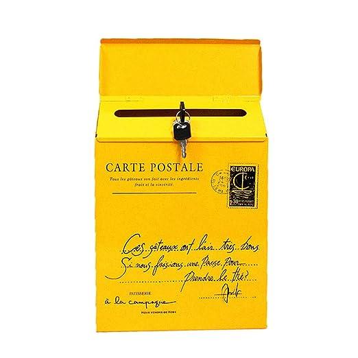 Buz/ón de pared Correo Postal Cartas Grupo Antracita Acero decorativo Recubierto en Polvo V11