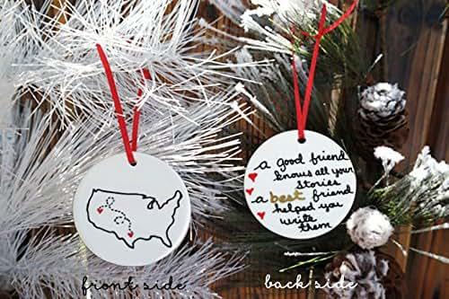 Amazon.com: USA Christmas Ornament, Christmas Gift For