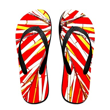 0668cf4fe96 Image Unavailable. Image not available for. Color  Classical Flip Flops  Sandy Flat Thong Sandals Red ...
