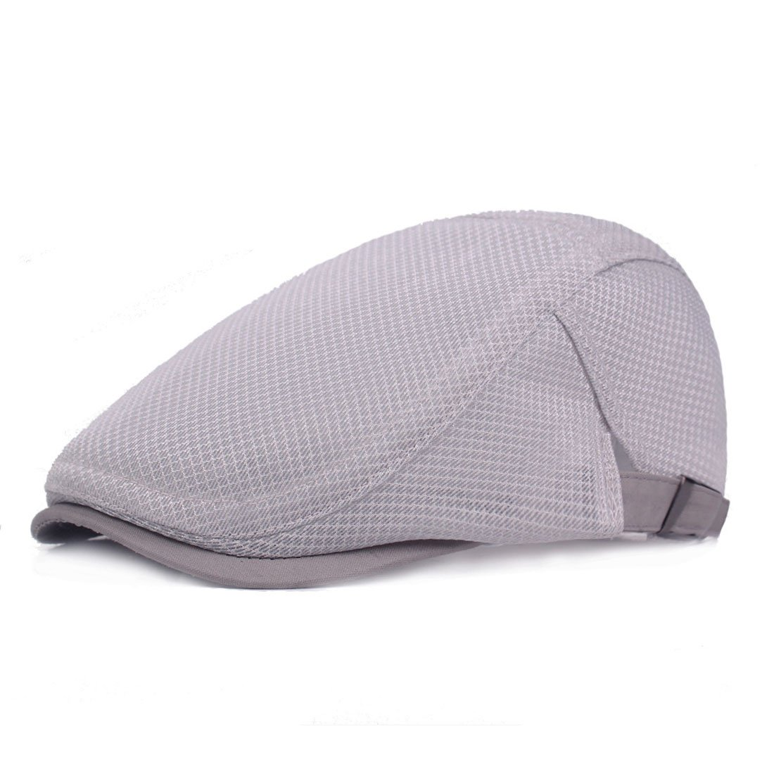 King Star Men Summer Newsboy Hat Beret Ivy Cap Cabbie Breathable Mesh Caps