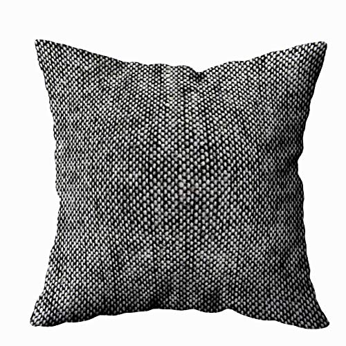 Capsceoll Throw Pillow Cases, Charcoal Gray Tweed Fabric Texture Pattern 18x18 Pillow Cover Home Decoration Pillow Cases Zippered Covers Cushion for Sofa Couch