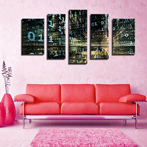 Amazon.com: Melody Art - Canvas Paintings of Information Physics ...