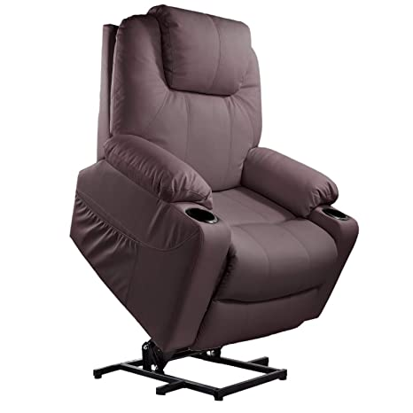 Pleasant Furgle Power Lift Recliner Chair With Massage Heat And Vibration Elderly Massage Recliner Ergonomic Living Room Lounge Sofa Faux Leather W Remote Pabps2019 Chair Design Images Pabps2019Com