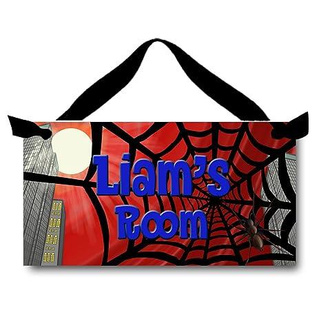 Amazon.com: Spider Web City Scape Cartel para puerta de ...