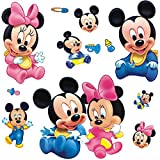 Best Wall Stickers For Babies - Wall Sticker Decal Mickey and Minnie Mouse Kids Review