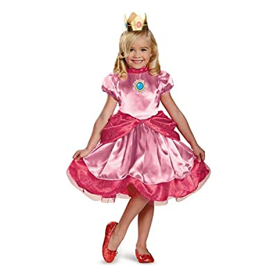 Nintendo Super Mario Brothers Princess Peach Girls Toddler Costume, Medium/3T-4T: Toys & Games