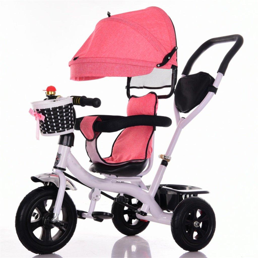 KANGR-子ども用自転車 三輪車ベビーキャリッジバイク子供おもちゃトロリーチタンホイール/泡ホイール自転車3ホイール、回転可能な座席(ボーイ/ガール、1-3-5歳) ( 色 : A type ) B07BTY5HL1A type