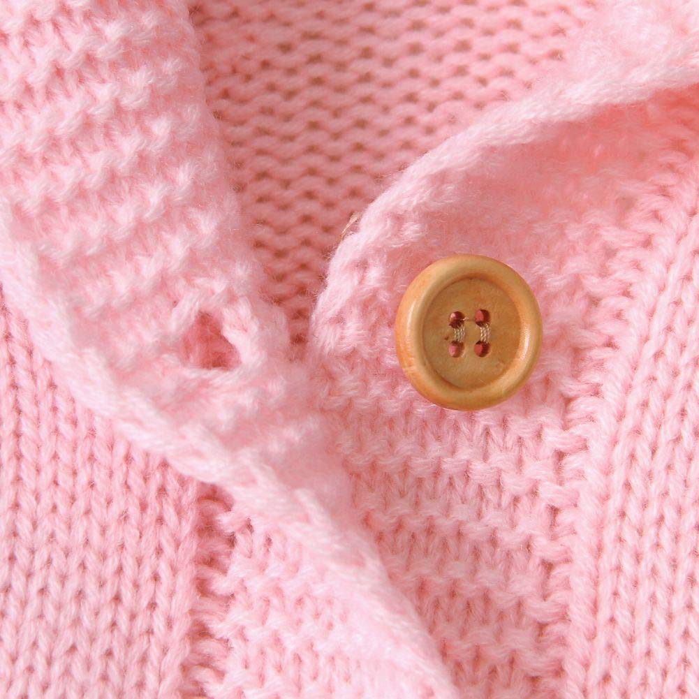Hongyuangl Baby Strickwaren Neugeborene M/ädchen Jungen Pullover Strampler Langarm Strick Hoodie Overall Herbst Winter Kleidung 0-24 Monate