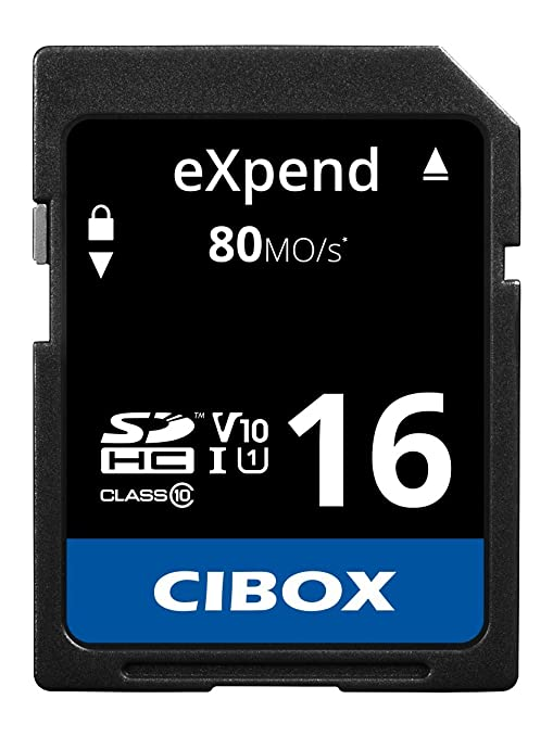 Cibox eXpend tarjeta SD SDHC clase 10 UHS-I U1 V10 16 GB ...