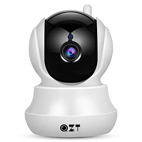 IP Camera, QZT Wireless Home Security 720P HD Wifi Camera With Pan/Tilt, Two-Way Audio, Night Vision, Motion Detection, Email Alarm, Micro SD Recording for IOS, Android and Windows Device Remote View
