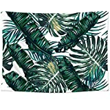 Sunm Boutique Tapestry Wall Hanging Palm Tree Leaves Tapestry Vintage Tapestry Wall Tapestry Micro Fiber Peach Home Decor (Palm Tree Leaves,51.2''x 59.1'')