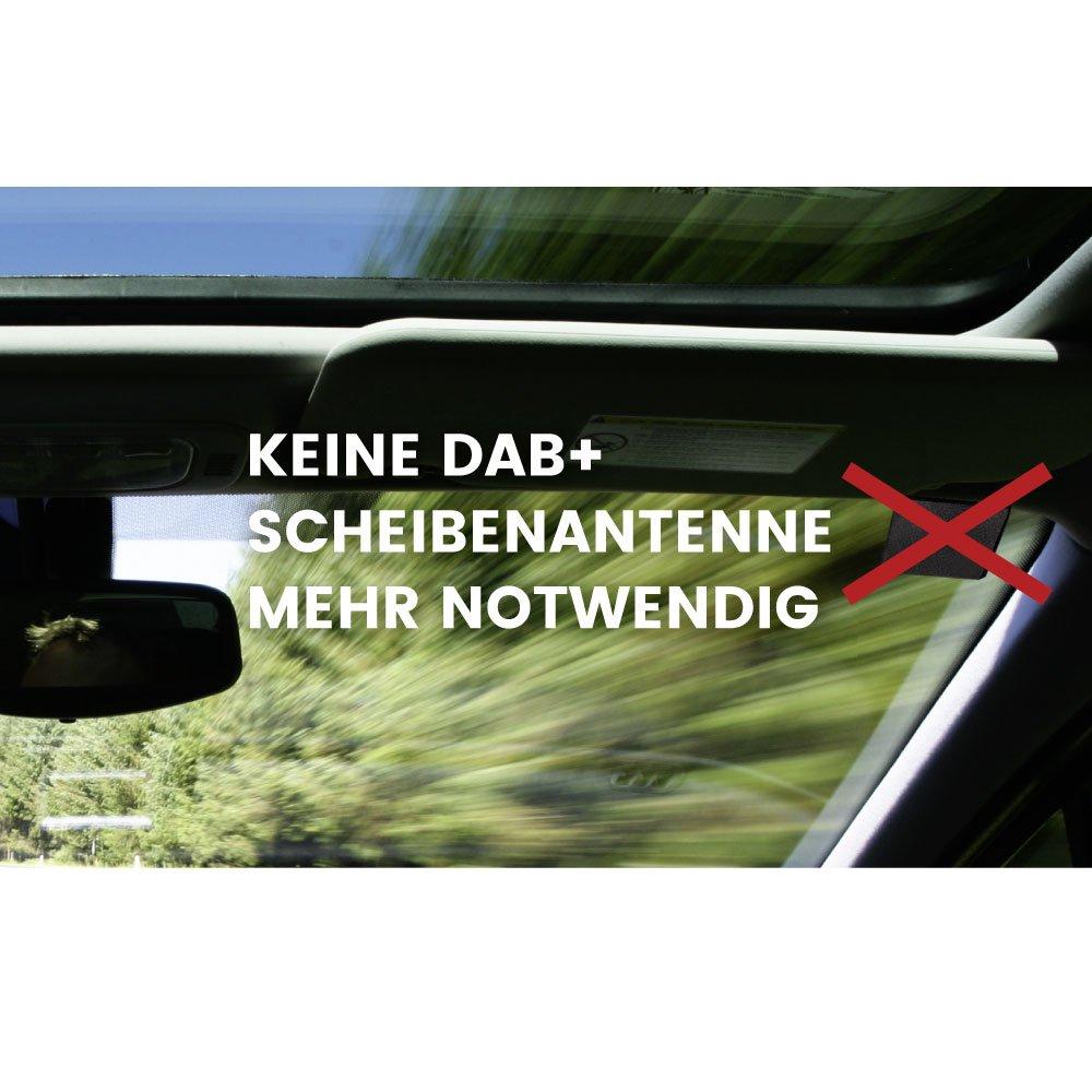 Antenne n/ötig; DIN Stecker DIN Buchse und SMB Anschluss und UKW Antennenverteiler f/ür vorhandene Fahrzeugantennen; zum Anschluss von DAB Aktiver DAB Radios oder Navis; KEINE zus/ätzliche DAB