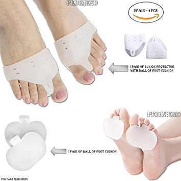 1Pair Unisex Silicone Gel Soft Forefoot Metatarsal Foot Toes Separator Support