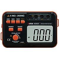 Victor VC60B+‒Medidor de aislamiento digital, 250/500/1000VCC, 750VCA, color