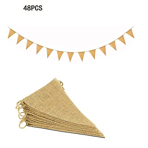 11M/48 Pcs Banderas Triangulares, ideal para Decoración de ...