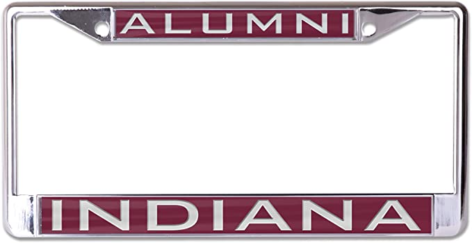 Blue WinCraft Indiana State University ISU Sycamores Premium License Plate Frame 2 Mount Holes Metal with Inlaid Acrylic