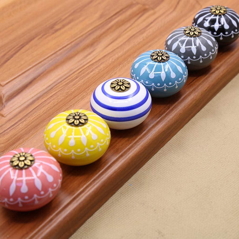Blu Yardwe 6Pz Manopole in Ceramica Vintage Pomelli per ...