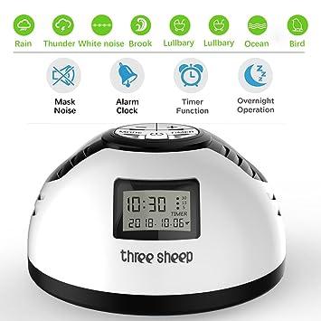 White Noise Machine Baby, Máquina portátil de sonido del sueño con 8 sonidos relajantes,