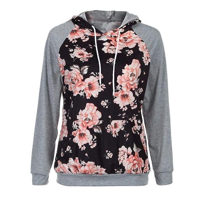 Amazon.com: Women Short Hoodie Sweatshirt Daoroka Long Sleeve Floral Autumn Winter Warm Pullover Blouse Fashion Causal Tops: Arts, Crafts & Sewing
