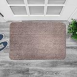 "Agréable Large Indoor Super Absorbent Door Mat, Powerful Non-Slip Door Rug for All Floor Types, Front Doormat Absorbs Muddy Shoes, Pet Paws, Wet Feet. Machine Washable. (24"" X 36"" Brown/Tan)"