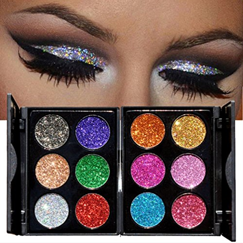 - TAROMAING Brand New Diamond Golden Color Powder Glitter Eye Shadow Palette Shiny Eyeshadow Palette Makeup To Faced Cosmetics Set (A)