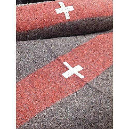 Aromzen Swiss Army Reproduction Wool Blanket 60 x 84 ()