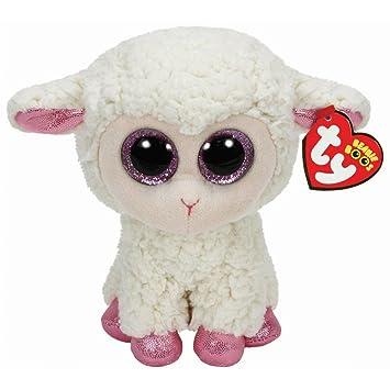 TY - Peluche oveja Daria Beanie Boos (15 cm) , Juguete Peluche Primera infancia