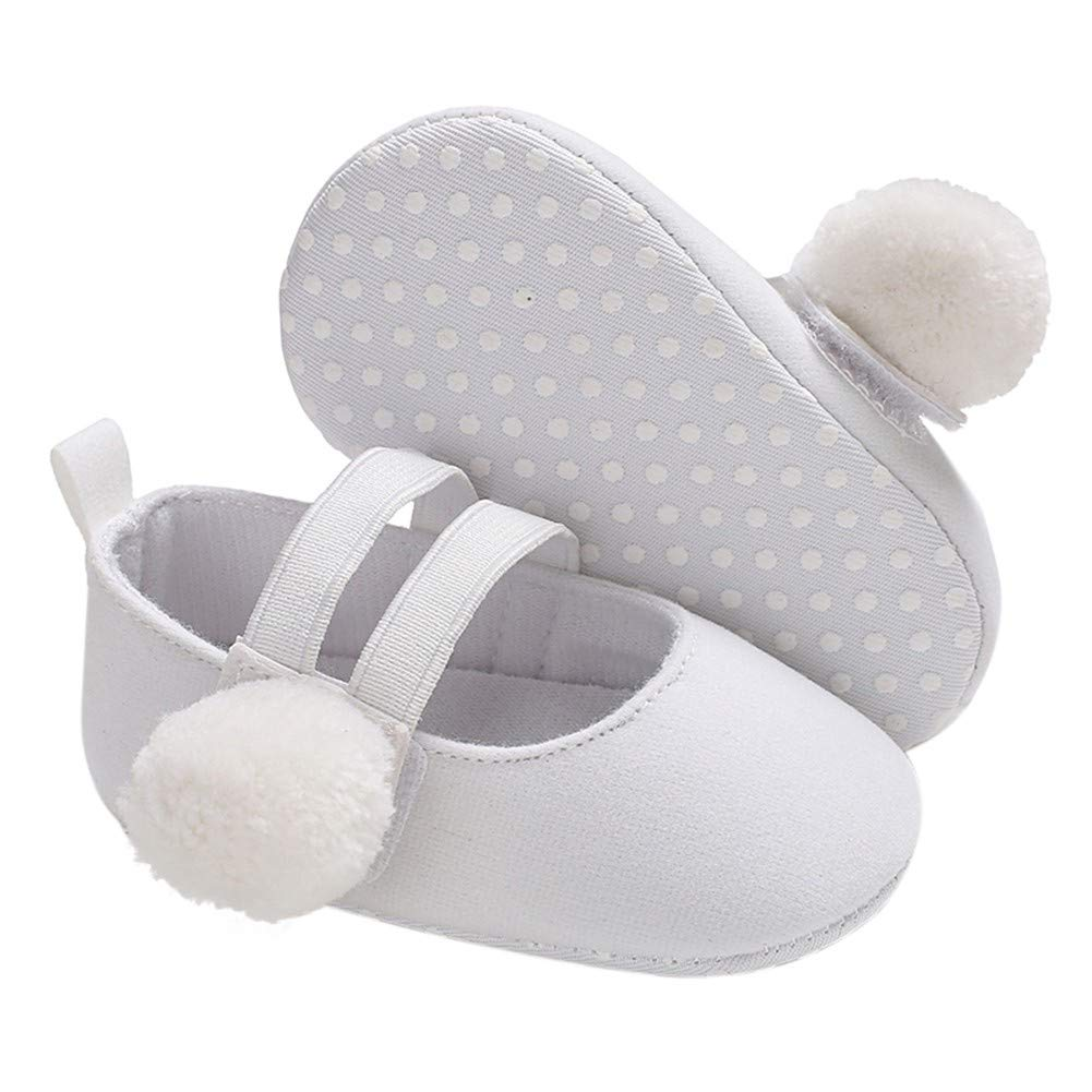 Norbi Baby Girls Leopard Print Soft Sole Crib Shoes