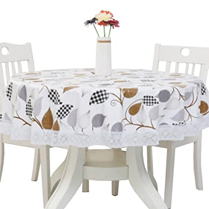 YANXUS Tablecloths Circular Tablecloth 70 Inch Oil Proof/Waterproof  Stain Resistant, Vine