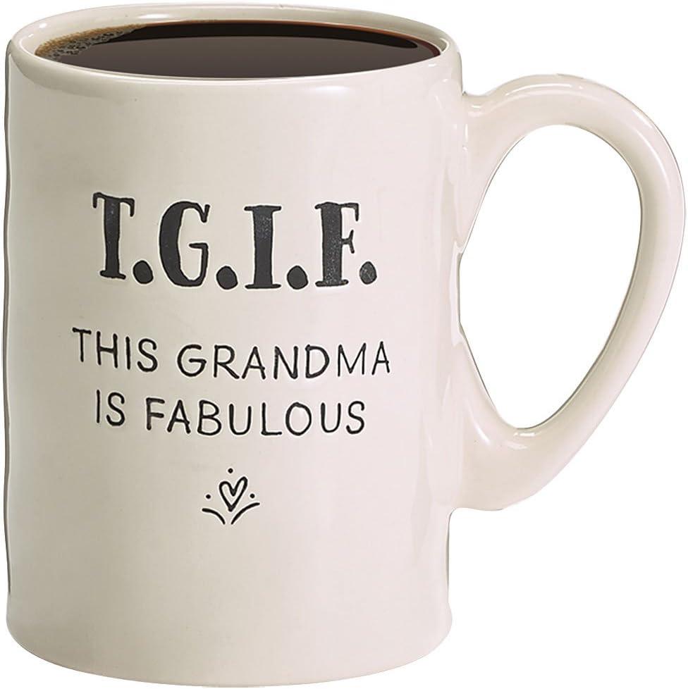 16 Ounce Burton and Burton 9732786 TGIF This Grandma Is Fabulous Acronym Ceramic Coffee Mug