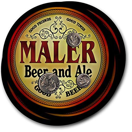Maler Beer & Ale - 4 pack Drink Coasters (Maler Lager)