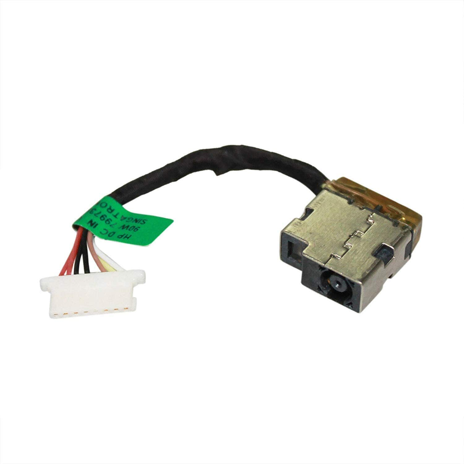 AC DC Jack Power Plug in Charging Port Connector Socket with Wire Cable Harness for HP 14-DF 14-DF0010NR 14-DF0011WM 14-DF0013CL 14-DF0013DS 14-DF0014DS 14-DF0015DS 14-DF0016DS 14-DF0018WM 14-DF0020NR