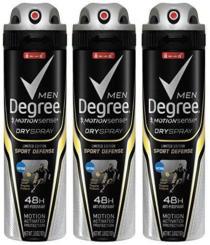 Degree Men Motion Sense Spray Antiperspirant, Sport Defense 3.8 oz (Pack of 3)