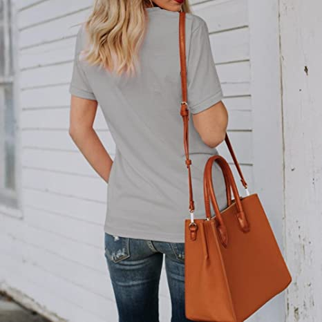 Amazon.com: DondPO Womens T Shirt Casual Cotton Short Sleeve Graphic T-Shirt Print Letter Tops Tees Blouse: Clothing