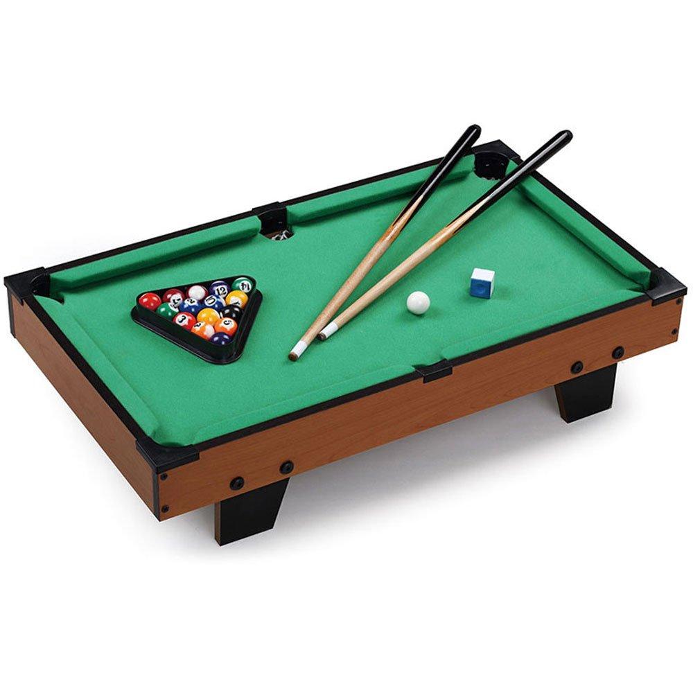 Vetrineinrete® Biliardo da tavolo in legno carambola con piedi antiscivolo 2 stecche e 16 palle gessetto gioco per bambini bigliardo P28