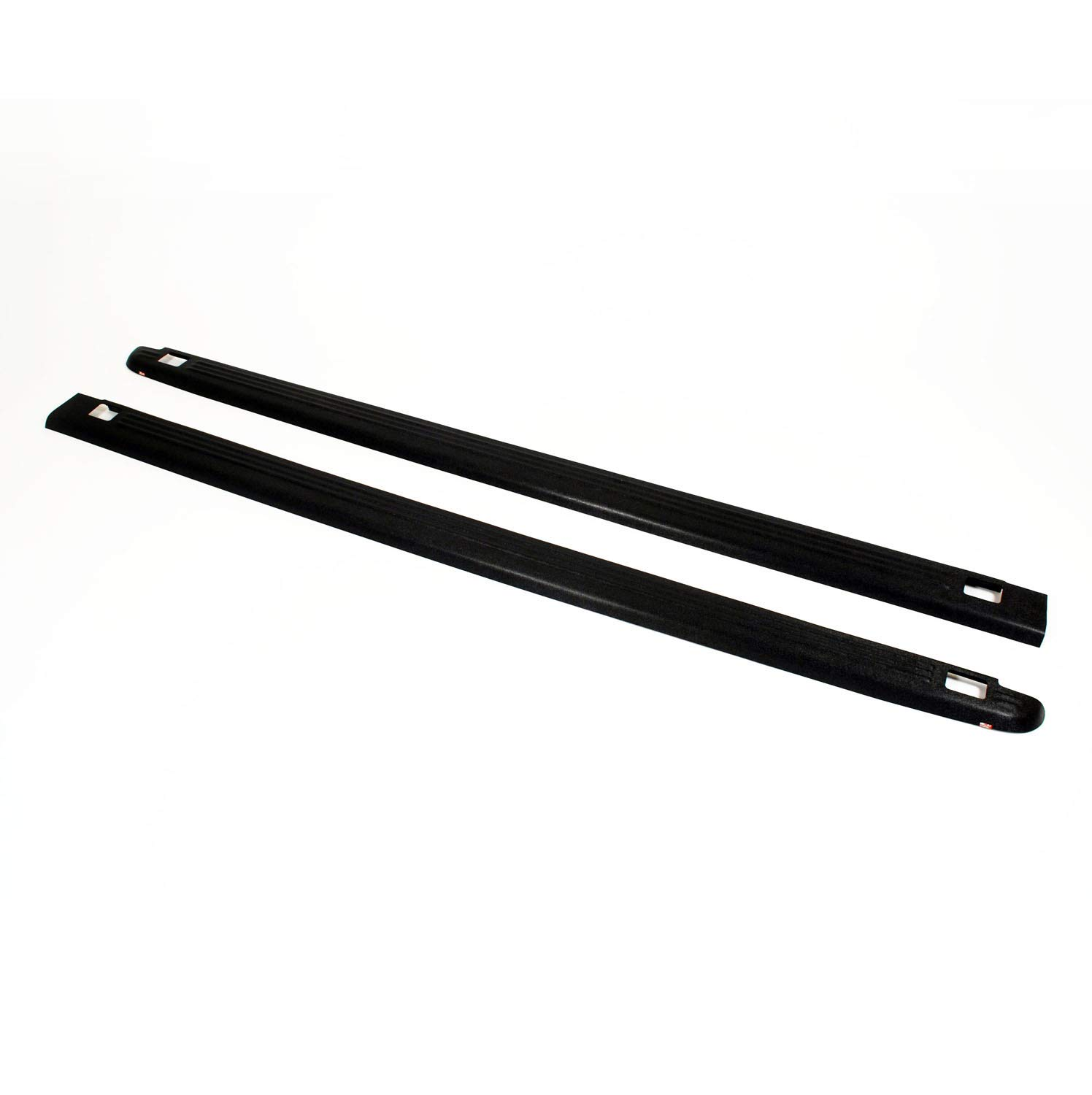 Wade 72-01111 Truck Bed Rail Caps Black Ribbed Finish with Stake Holes for 1988-1998 Chevrolet GMC 1500 2500 3500 with 6.5ft bed (Set of 2) Westin