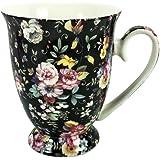 Gracie Teaware Black Chintz Porcelain Mug - 10 oz