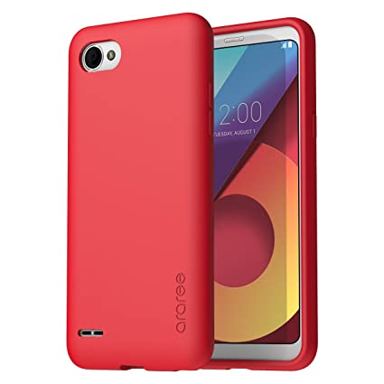 araree [Airfit] LG Q6 Case, Ultra Slim Soft Flexible TPU Scratch Resistant Shockproof case for LG Q6 / Q6+ (2017) - Red