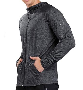 88c3a134 LIERDAR Sports Lightweight Long Sleeve Full-Zip Hoodie Sweatshirt X-Small