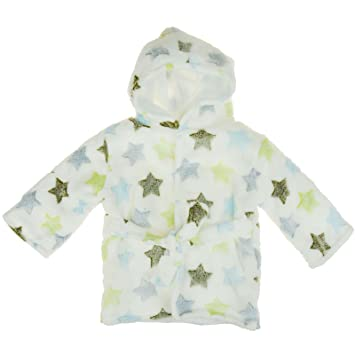 74cbb8a2d Baby Boys Girls Heart Star Print Soft Fleece Warm Bath Robe ...