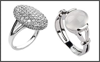 Twilight Bella Swan Moonstone Ring /& Wedding Engagement Ring Edward Cullens Size 8 TinneTinyBottle 2 Piece
